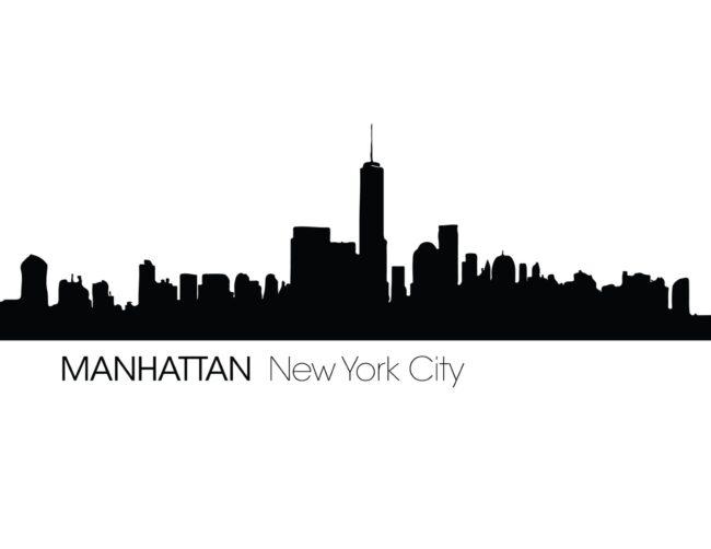 Free Printable Manhattan New York City Skyline Wall Art