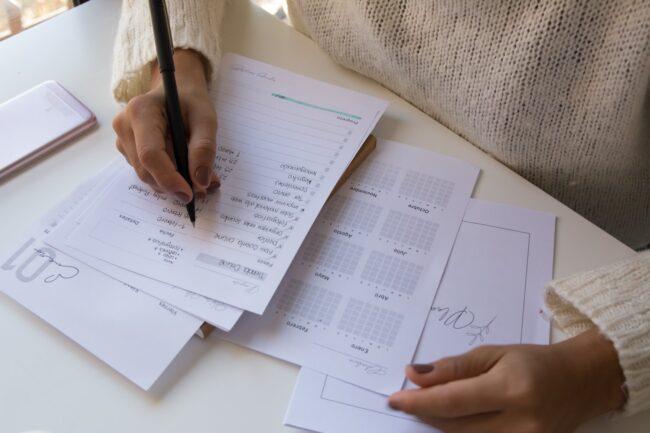 How do I create a budget planner