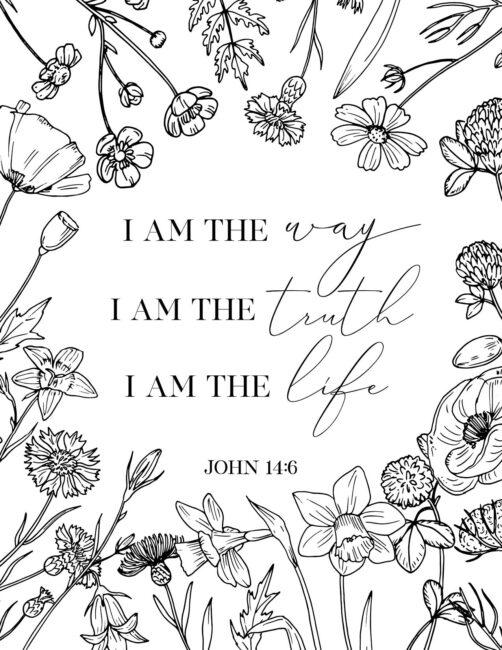 I Am The Way, I Am The Truth, I Am The Life - Free Printable Bible Verse John Wall Art