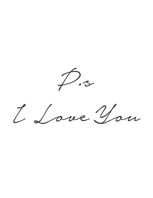 P.s I Love You - free printable Romantic Wall Art Print