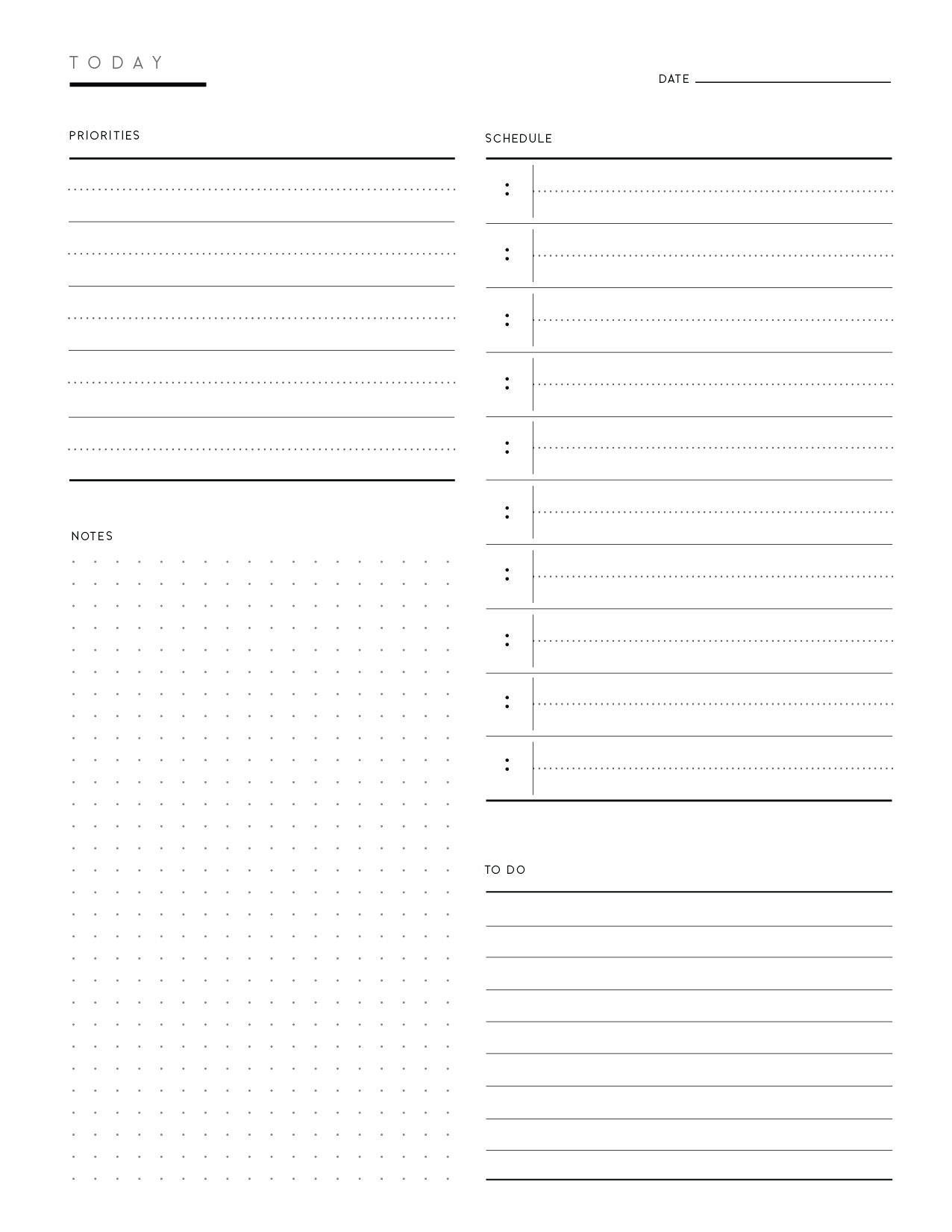 Download Free Printable Daily To Do List Template Pdf