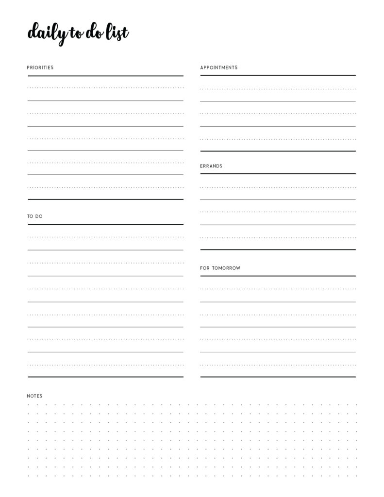 Download To Do Printable Template