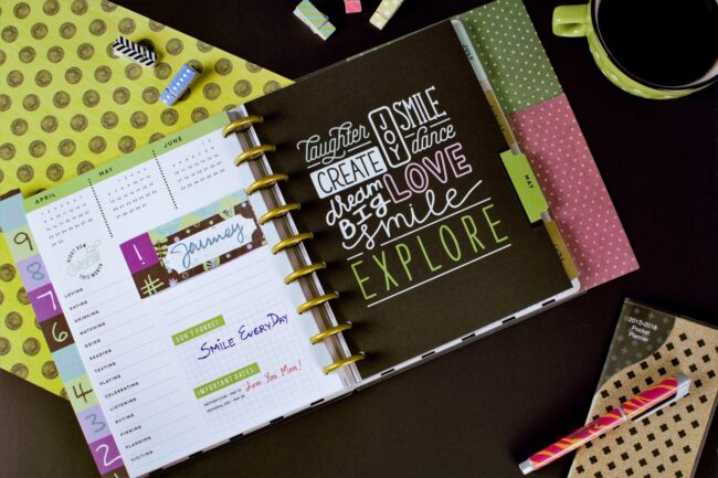 What should be included in a planner