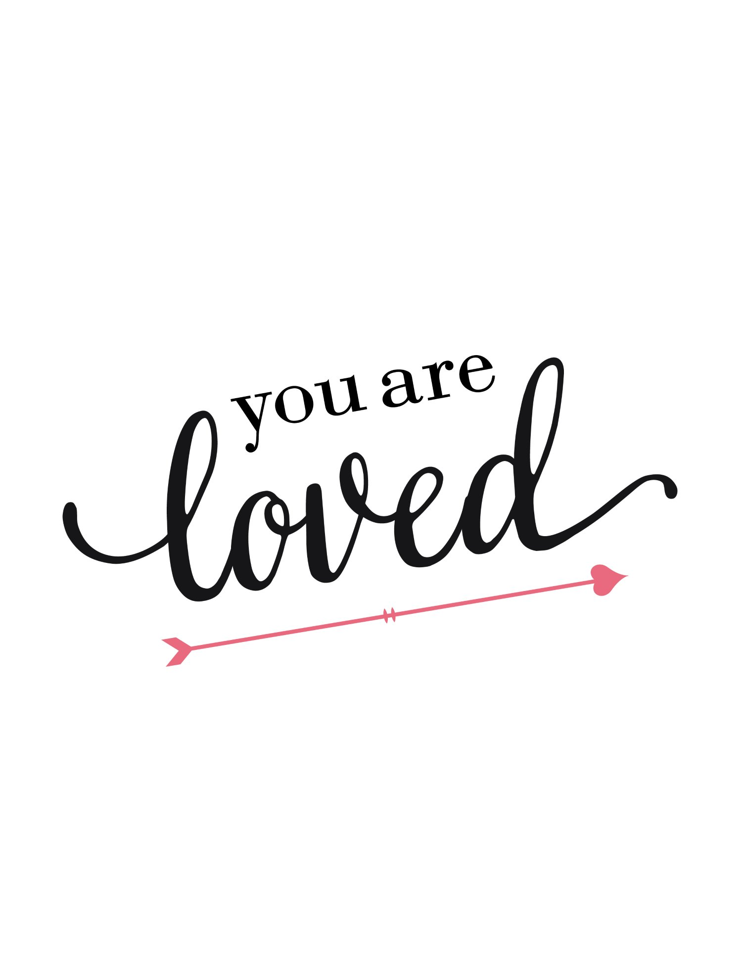 Free Printable Wall Art You Are Loved World Of Printables