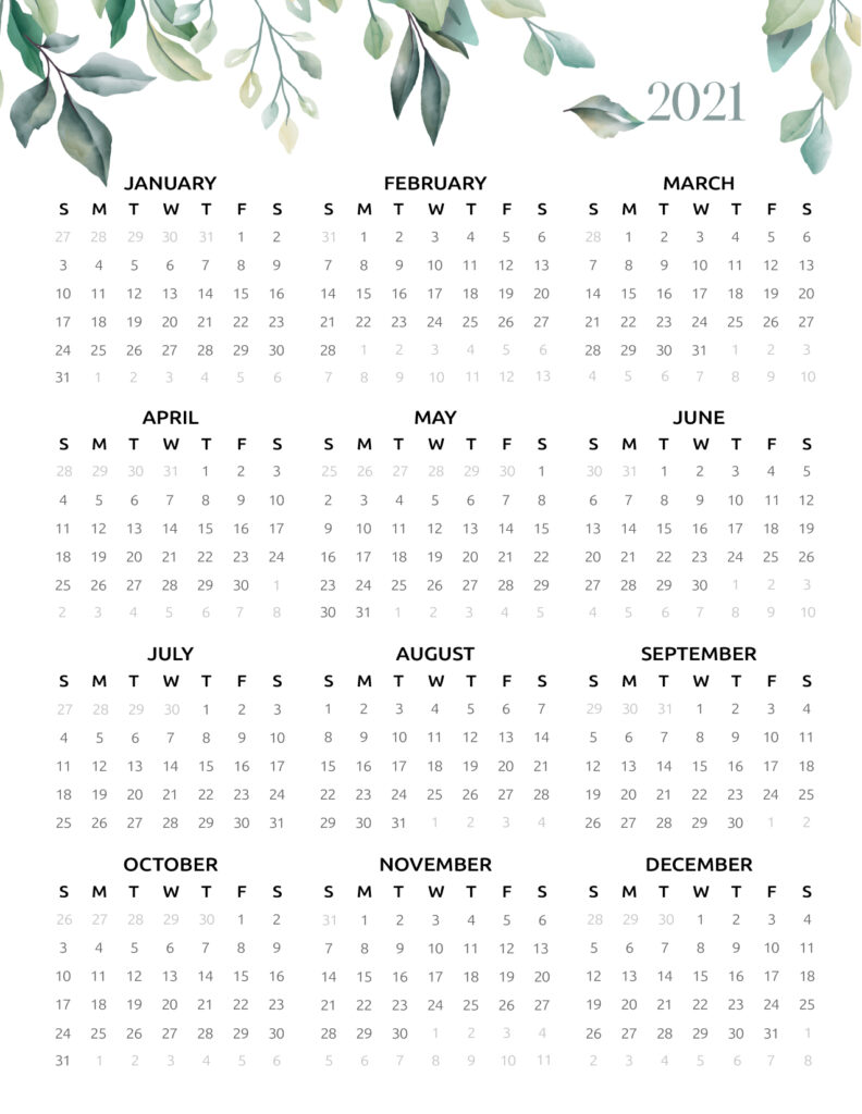 A Stunning 2021 2022 Calendar Printable For Your Favorite Planner