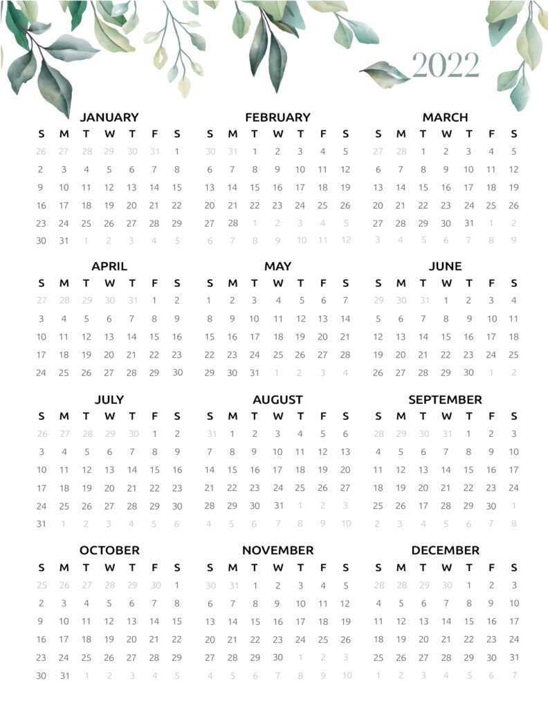 Download free printable 2021 2022 calendar template page 1