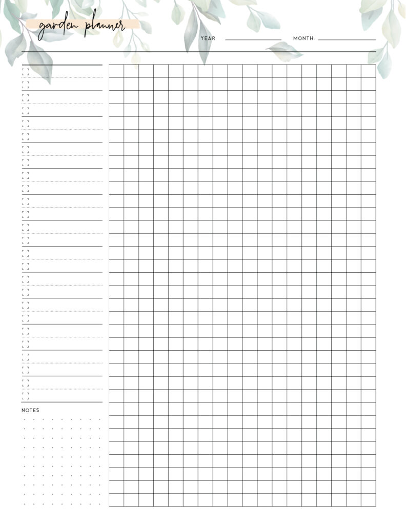 Download free garden planner template