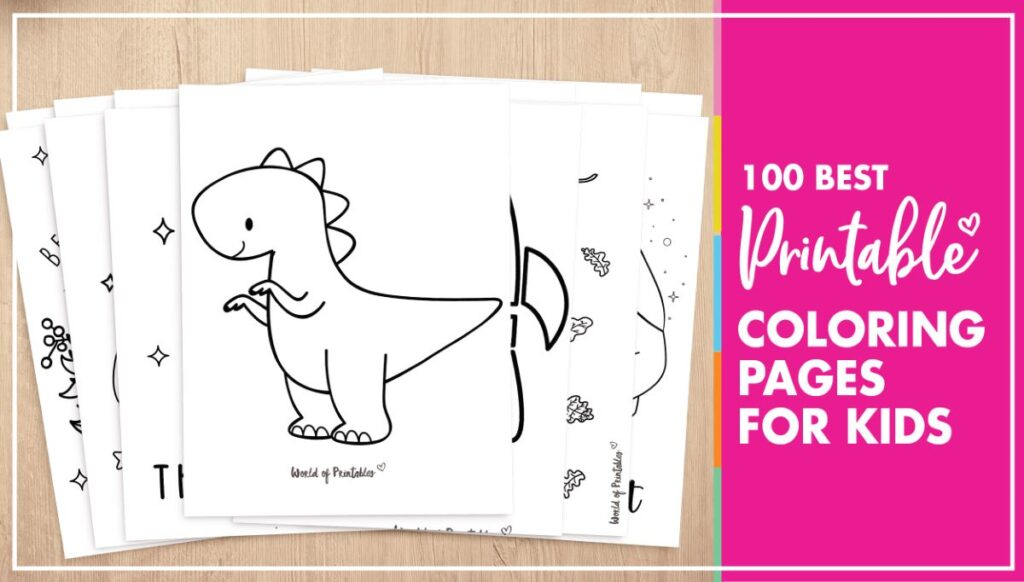 100 Coloring Pages For Kids