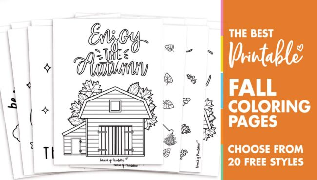 20 best fall coloring pages