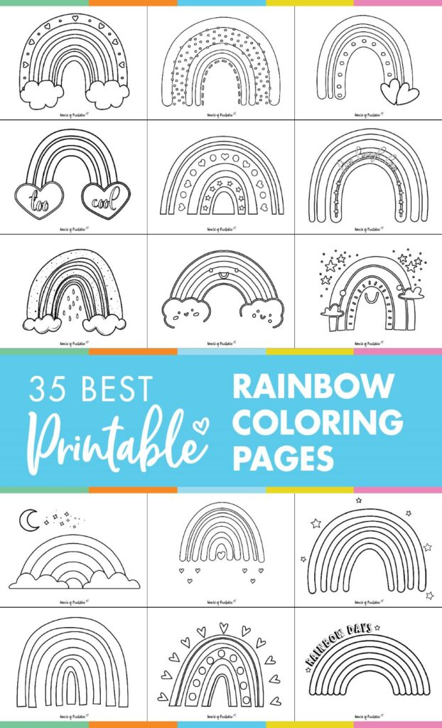 35 Best Rainbow Coloring Pages