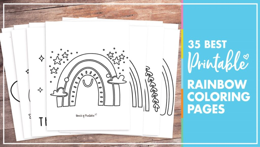 35 Best Rainbow Coloring Pages - Printable Rainbow Coloring Sheets