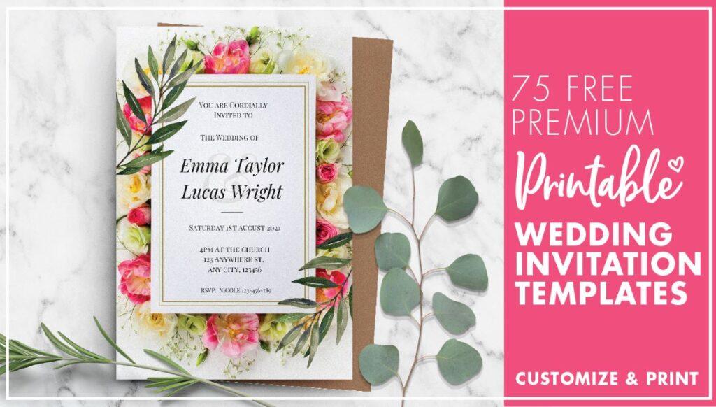 75 free printable wedding invitation templates