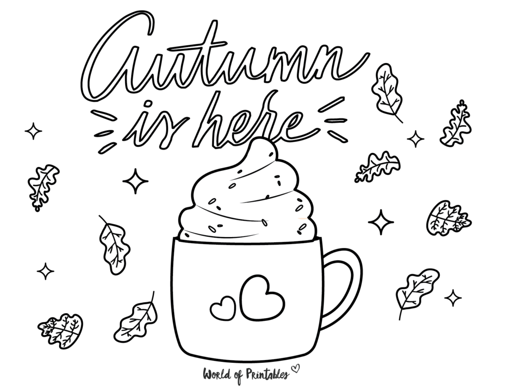 Autumn Coloring Pages 6