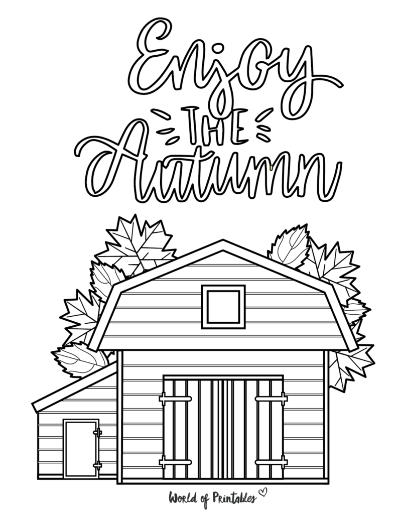 Autumn Coloring Pages 8
