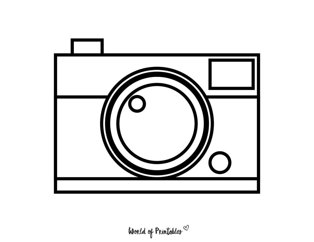 Camera Coloring Page