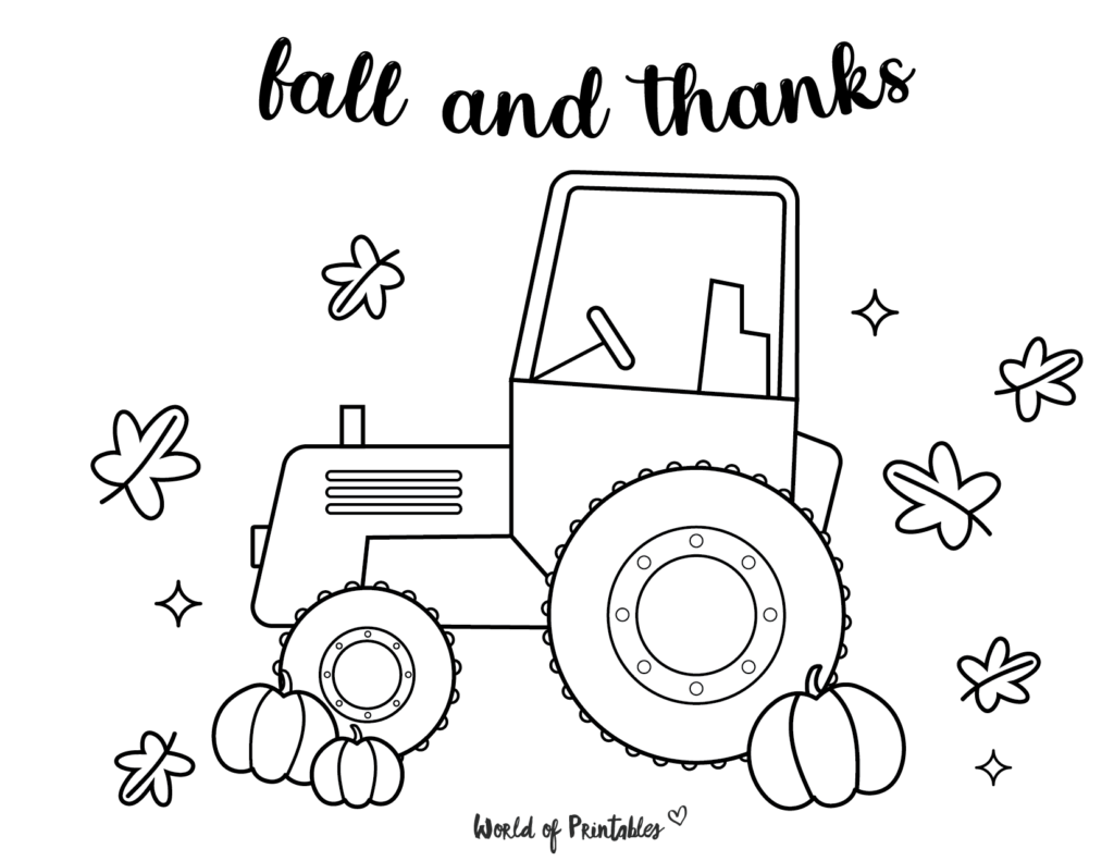 Fall Coloring Pages 10