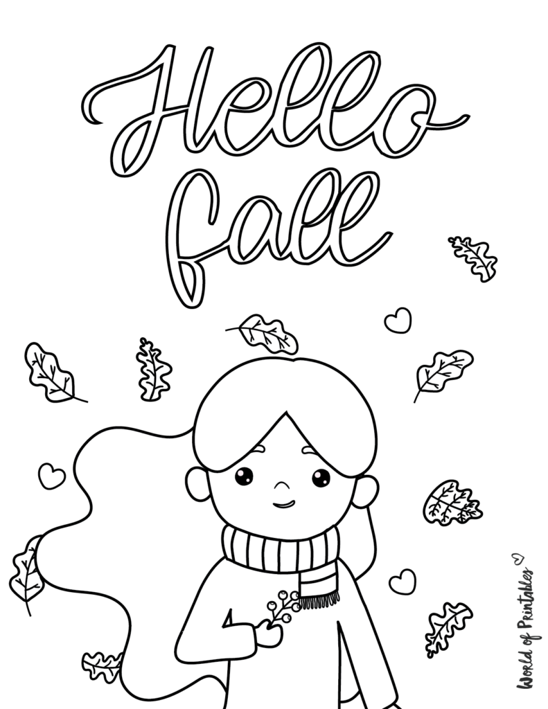 Fall Coloring Pages 11