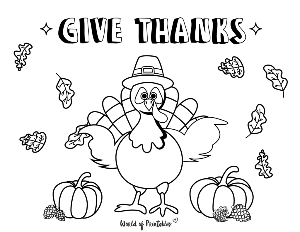 Fall Coloring Pages 12