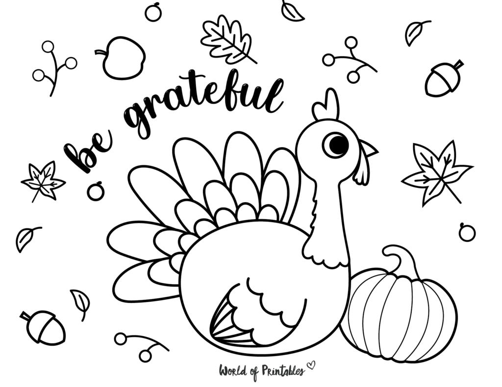 Fall Coloring Pages 14