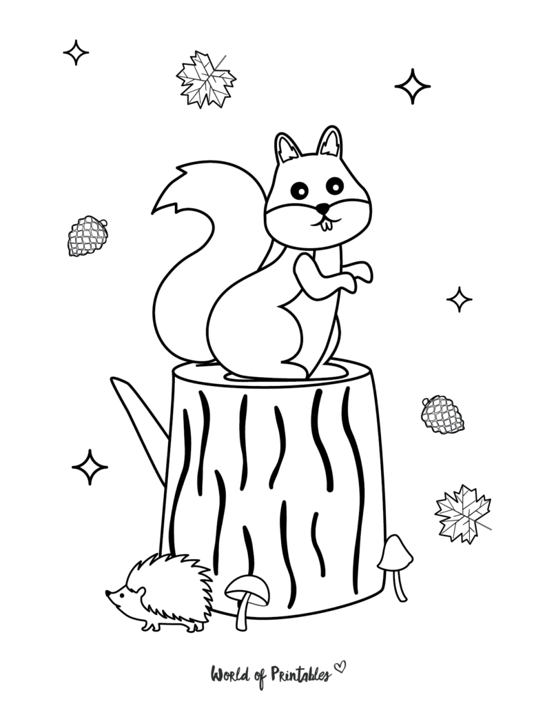 Fall Coloring Pages 9