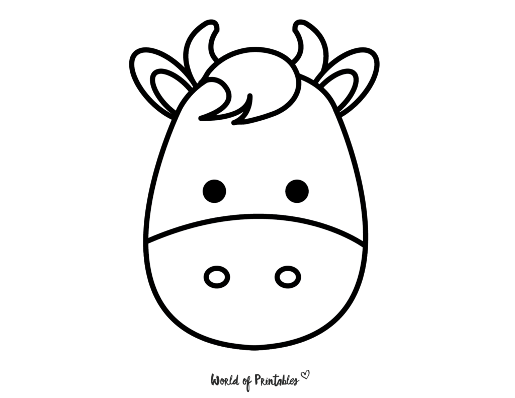 Farm Animal Cow Coloring Page