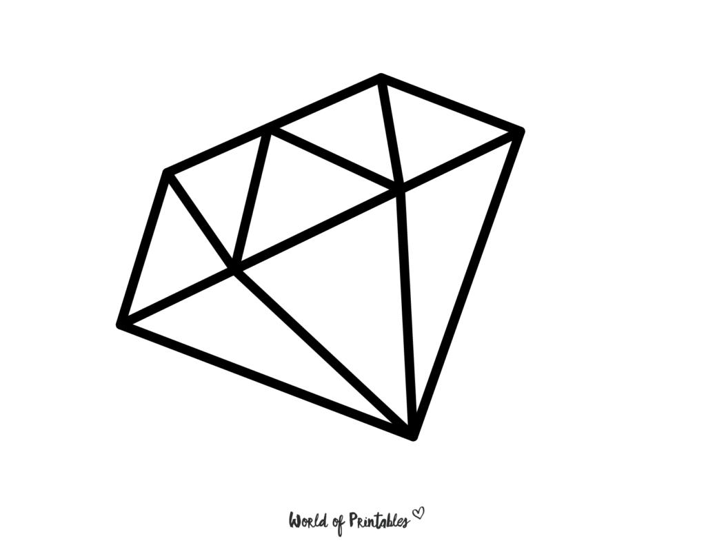 Gem Diamond Coloring Page