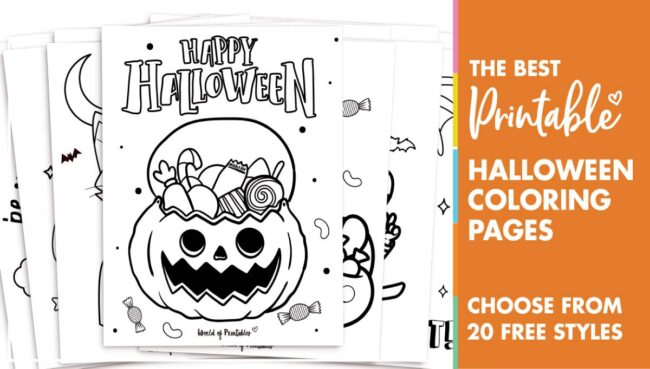 Halloween Coloring Page Sheets