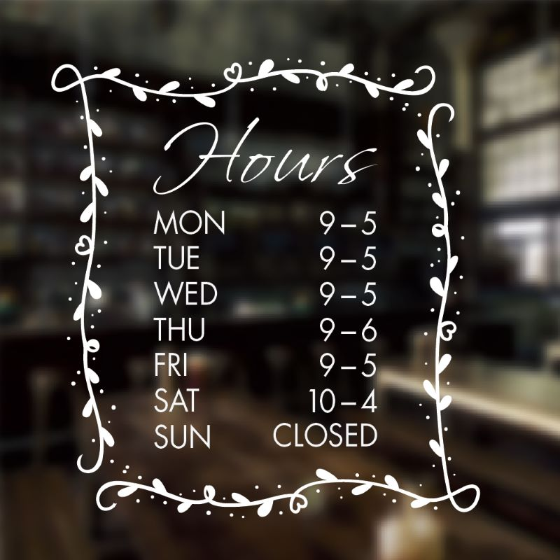 Hours of operation sign template 11