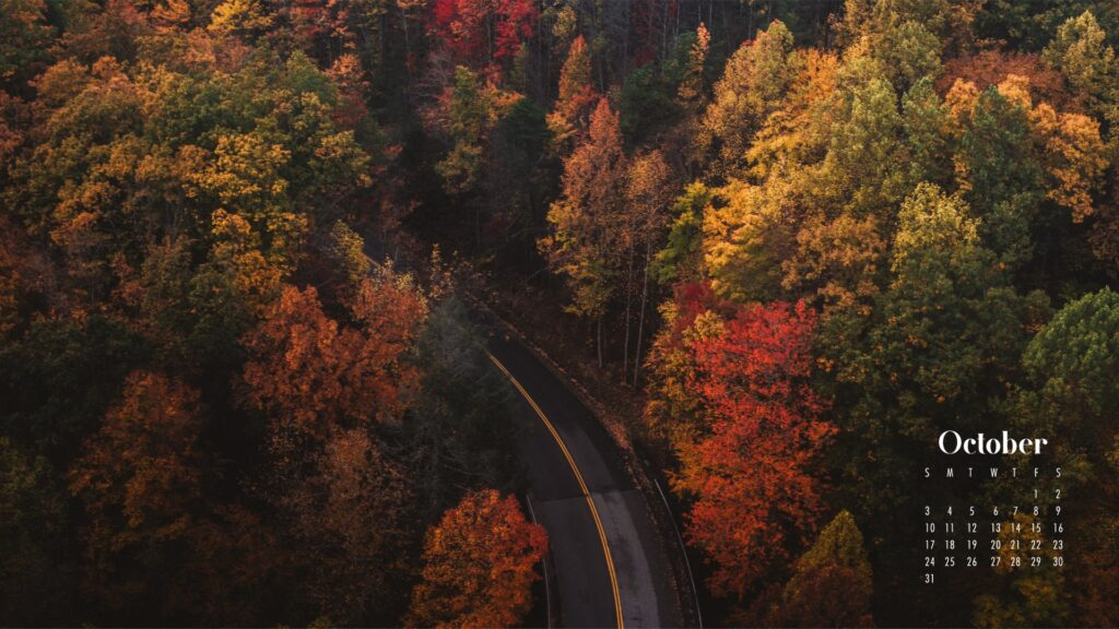 Fall woodland background October calendar wallpaperper calendars – Download free July Wallpaper desktop backgrounds