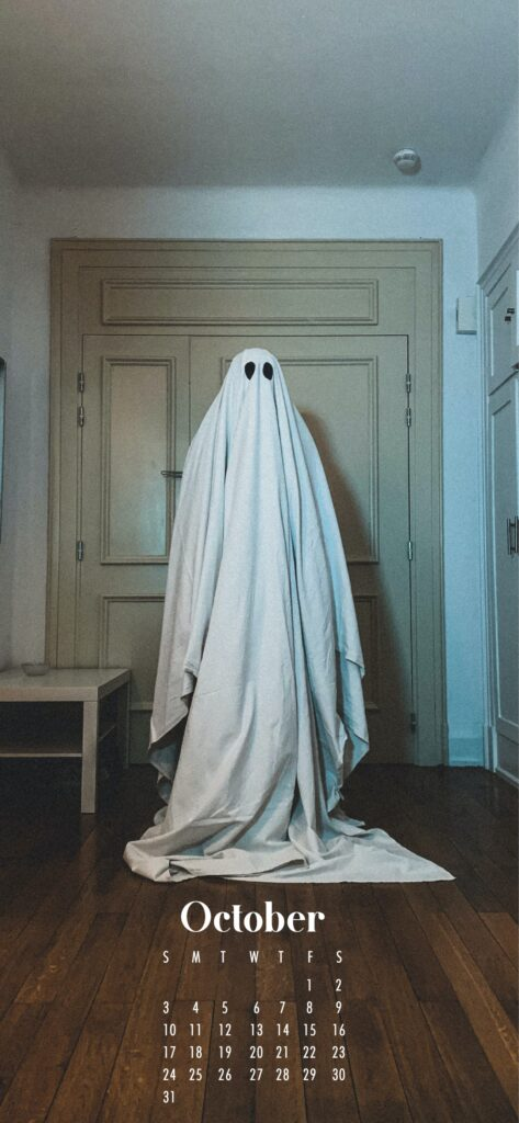 Ghost phone wallpaper background October 2021