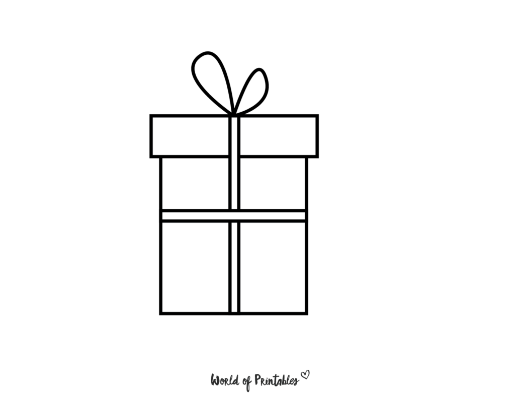 Present Gift Coloring Page