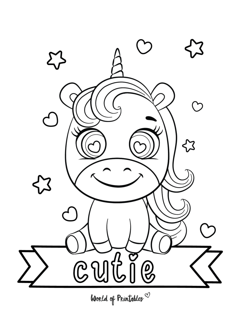 Printable Unicorn Coloring Pages 9
