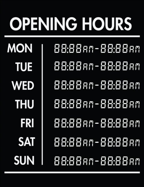Printable business hours of operation sign 11