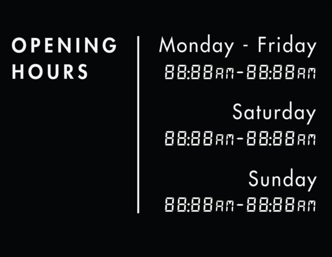 Printable business hours of operation sign 14