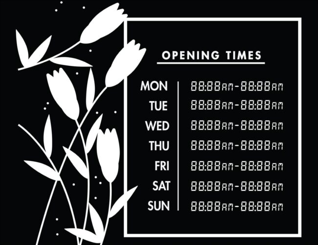 Printable business hours of operation sign 15