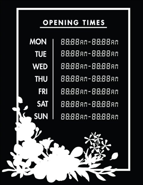 Printable business hours of operation sign 17