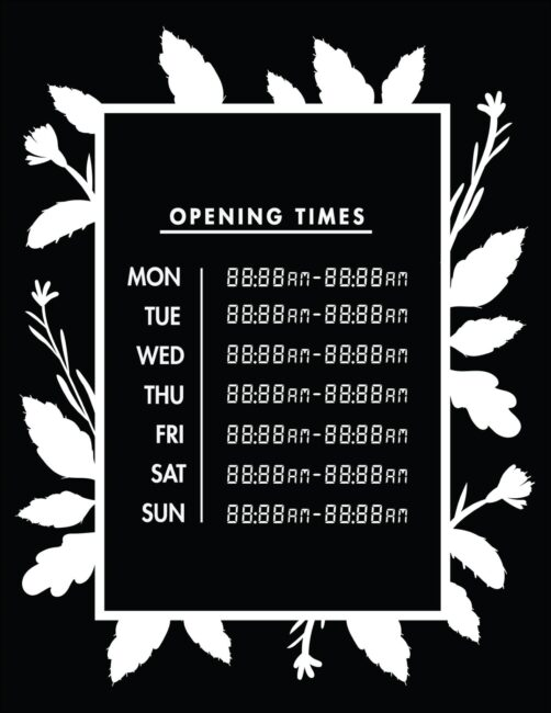 Printable business hours of operation sign 19