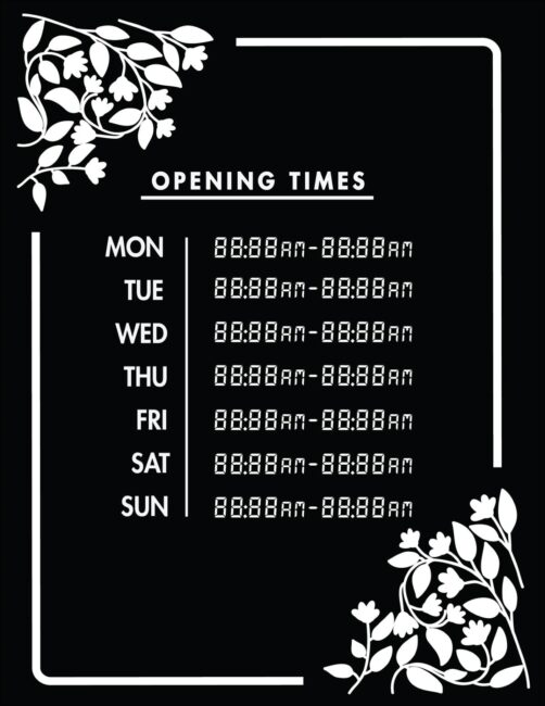 Printable business hours of operation sign 20