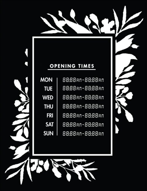 Printable business hours of operation sign 21
