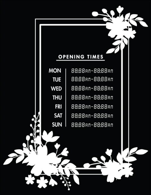 Printable business hours of operation sign 22