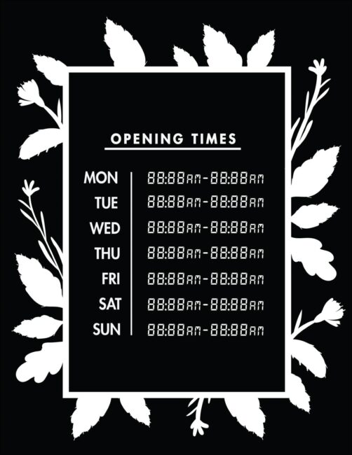 Printable business hours of operation sign 23