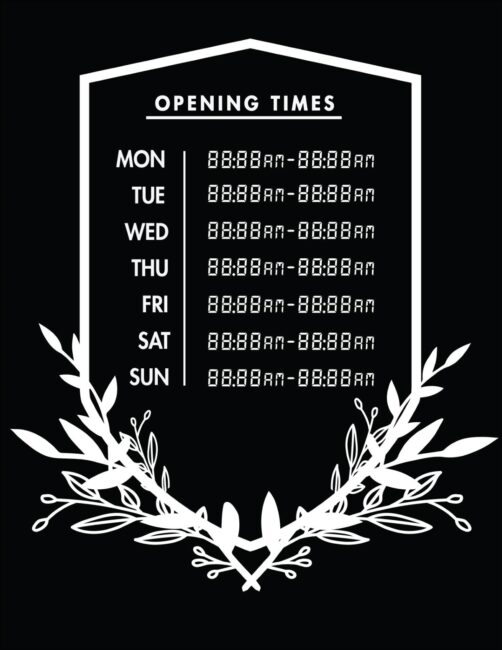 Printable business hours of operation sign 24