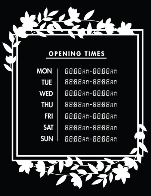 Printable business hours of operation sign 25