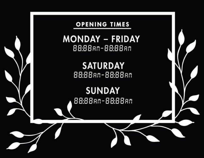 Printable business hours of operation sign 26