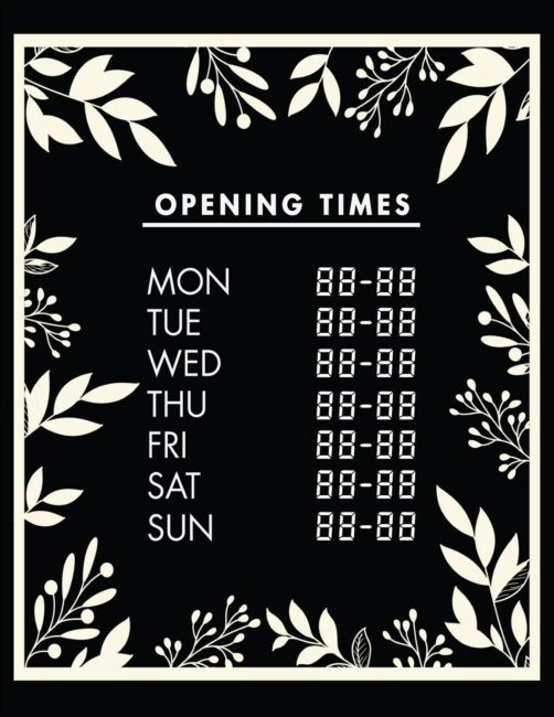 Printable business hours of operation sign 27