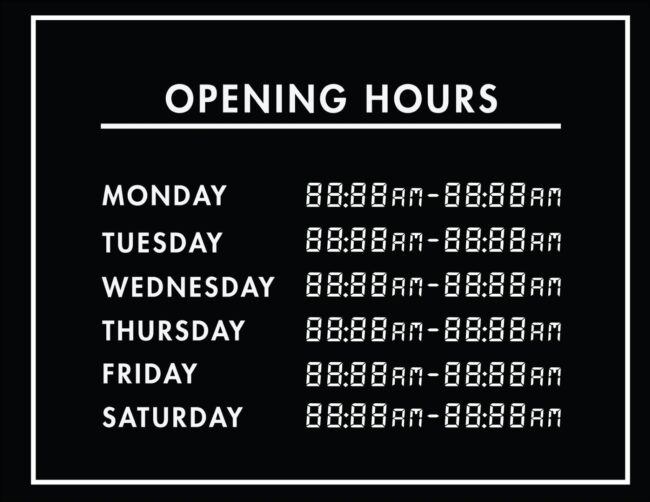 Printable business hours of operation sign 29