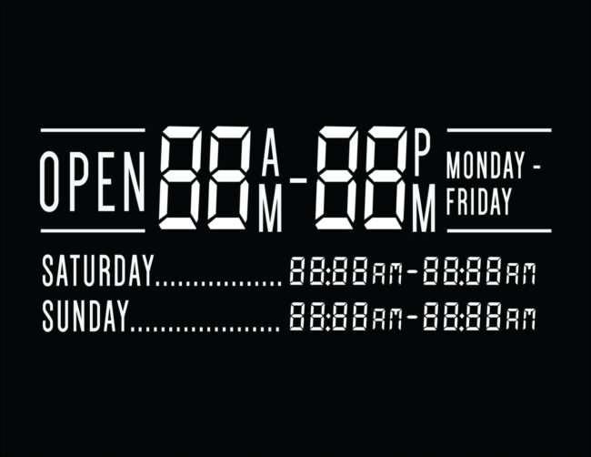 Printable business hours of operation sign 3