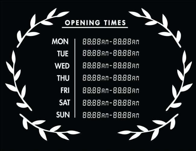 Printable business hours of operation sign 30