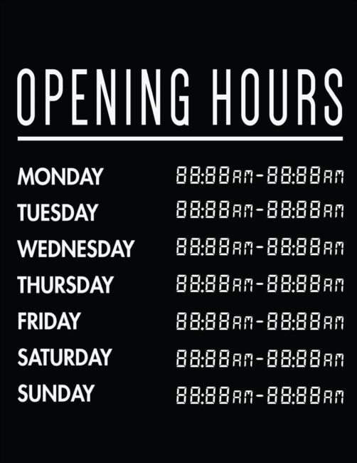 Printable business hours of operation sign 4
