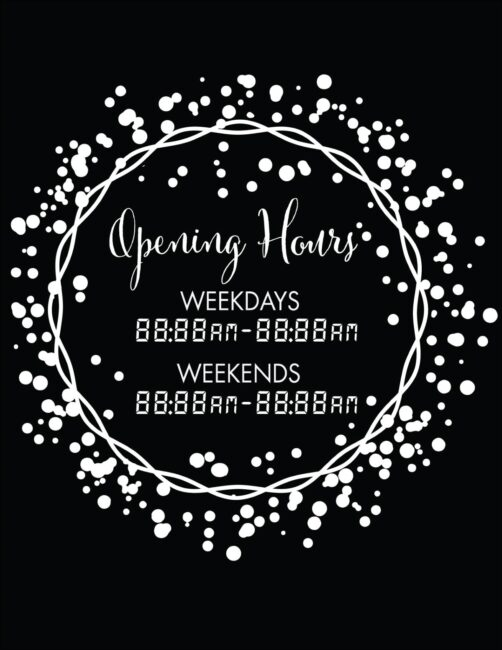 Printable business hours of operation sign 5